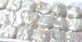 Square Shaped 25x30mm Large and Rare Keshi Pearls