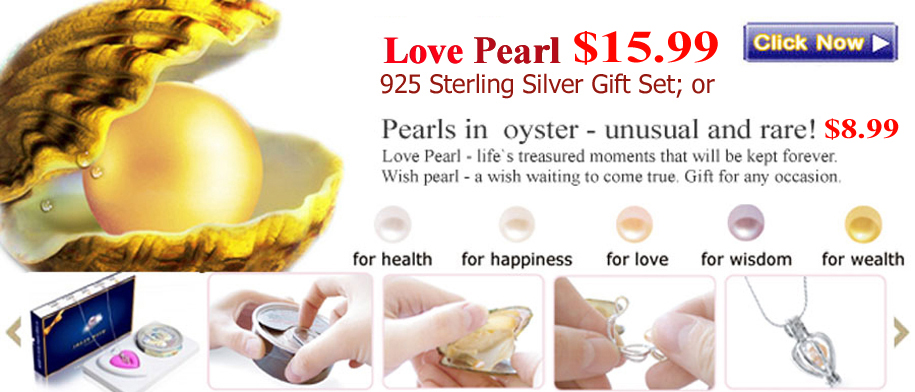 Love pearl in oyster
