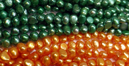 5-6mm Colored Baroque Pearls