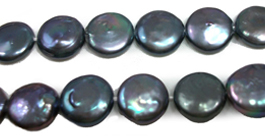 15-16mm Round Coin Flat Pearls
