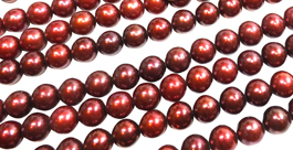 9-10mm Cranberry Pearls