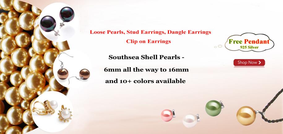 free southsea shell pearl pendant