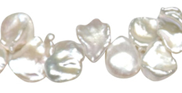 White Keshi Pearls