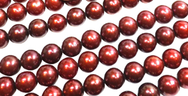 9-10mm Cranberry Round Pearls