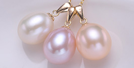 12-13mm AA+ Drop Pearl Pendant 14K Solid Gold