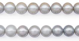 grey round pearls