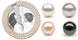 Jackie O Famous Look-a-like 3-row 7-8mm Round AA+ Pearl Necklace
