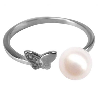 925 Sterling Silver Butter fly earl Ring Adjustable Size