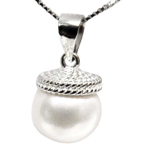 925 sterling silver pearl pendant