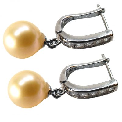 925 sterling silver pearl earrings