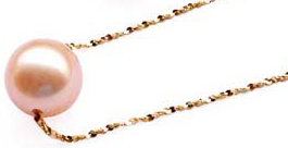 pink gold pearls