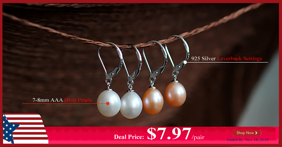 Drop Pearl Silver Leverback Earrings