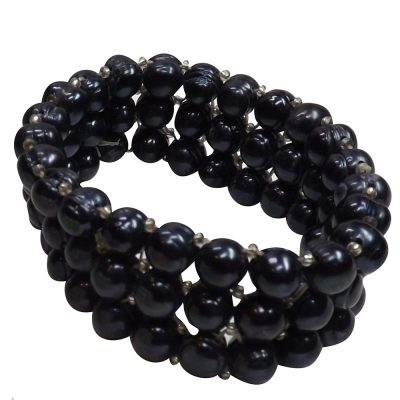 3 row black pearl bracelet