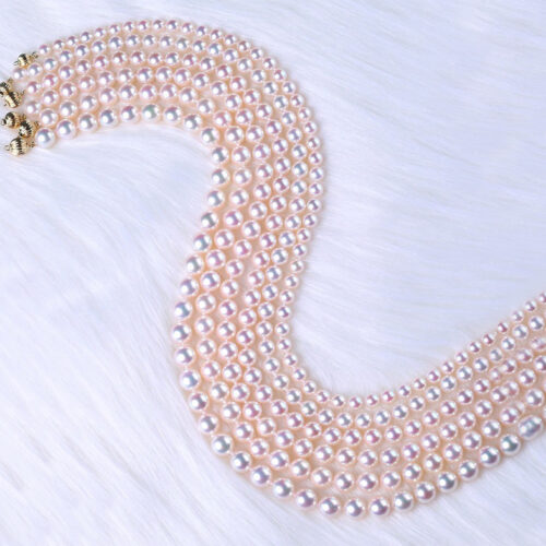 Japanese akoya pearl necklace 14k gold