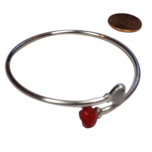 925 Sterling Silver Coral Bangle