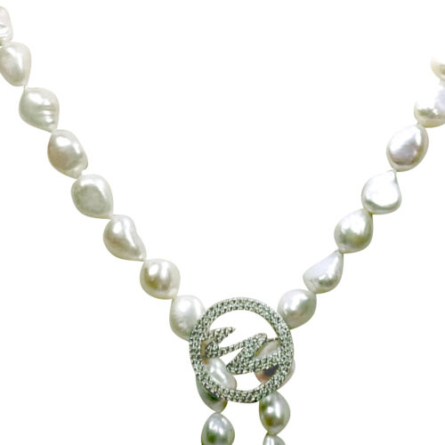 925 Sterling Silver Brooch as Necklace Shortener & Pendant