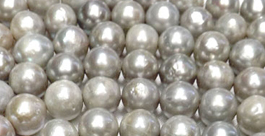 9-10mm Bead-Nucleated Real Freshwater Pearl Strands 15.5inch