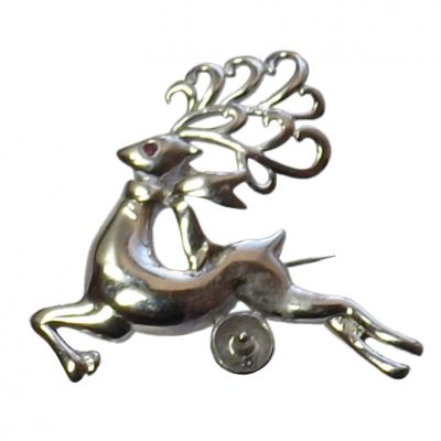 925 Sterling Silver reindeer Brooch Setting