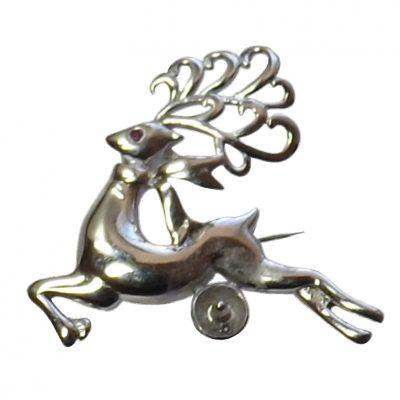 925 Sterling Silver reindeer Brooch Setting