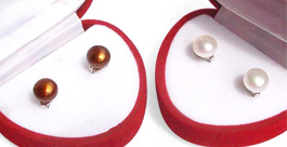 Real 7-8mm or 8-9mm Pearl Stud Earrings 925 Sterling Silver