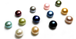 7-8mm Half-Drilled AA Quality Button Pearl in All Colored Pearls