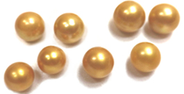Edison Golden Colored Round Pearls All Sizes from 10-15mm UnDrilled High Quality