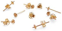pearl earrings settings gold
