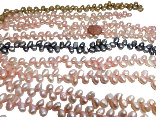 Top Drilled Baby Pink Pearl Strands