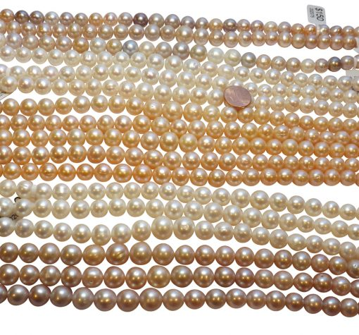 Huge Sized 11-13mm Round 4 colored Pearl Strands