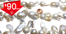 Huge 17mm-35mm Sized Baroque Pearl Strands Each One is One of Kind
