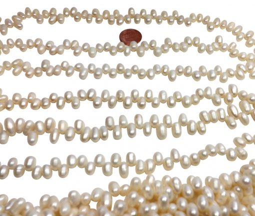 6x9mm top drilled drop pearl strands