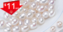 10mm Half Drilled Drop Pearls AA Quality For Earrings Sold by Pair