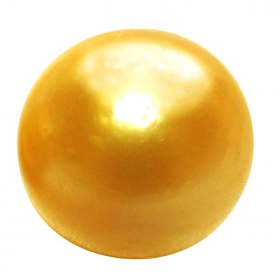 Deep Golden South Sea Single Loose Pearl Undrilled