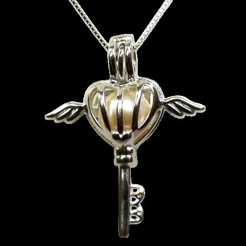 Key to my heart sterling silver silver locket