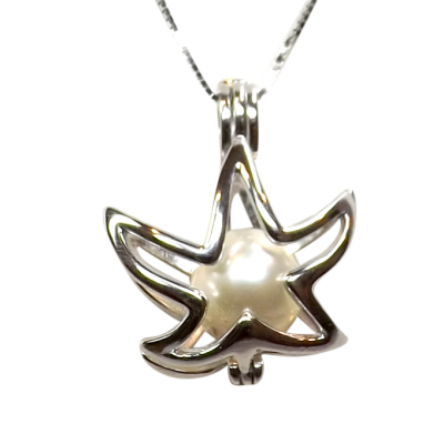 starfish shaped sterling silver locket