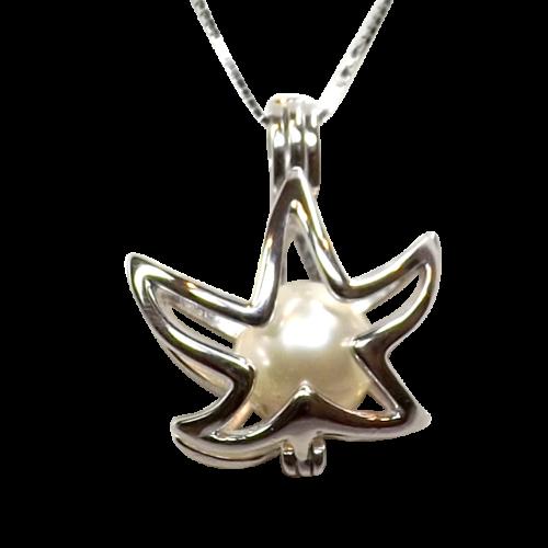 starfish shaped sterling silver locket