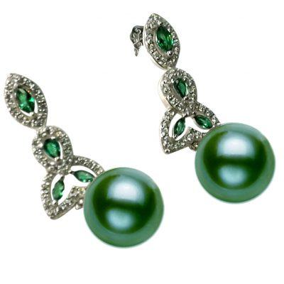 925 Sterling Silver Jade Pearl Earring