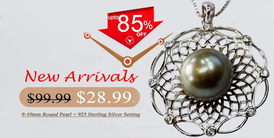 unique green colored pearl pendant on sale