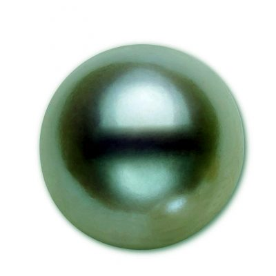 10-12mm Large Loose Truly Round Tahitian Green Pearl