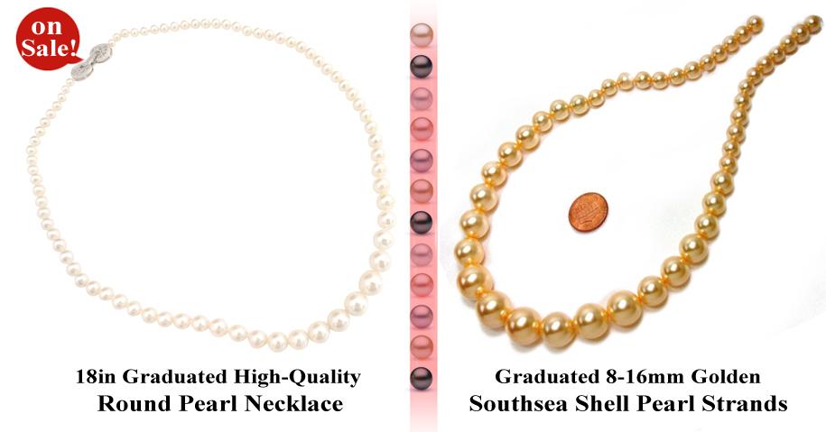 graduated pearls on sale