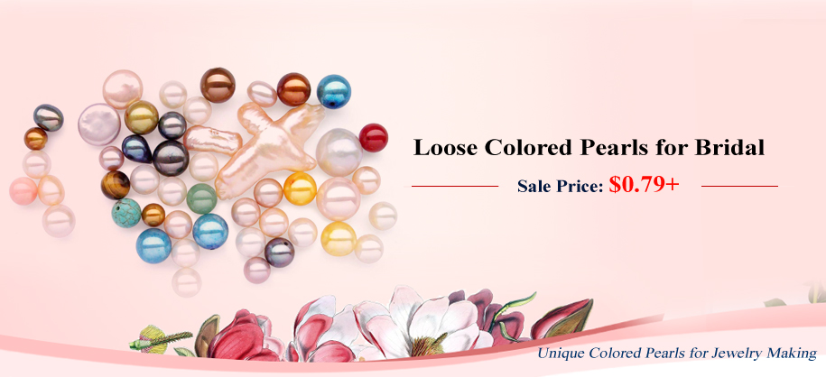 loose colored pearls on sale